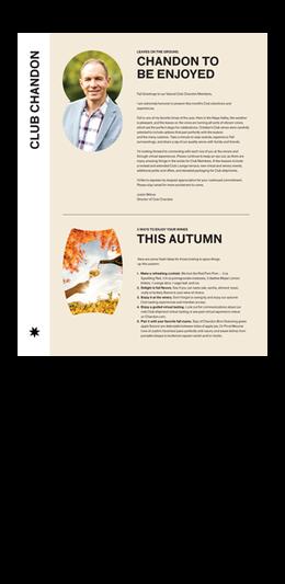 Chandon October Club Newsletter