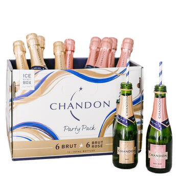 Chandon Brut/Rose 12 Mini Party Pack