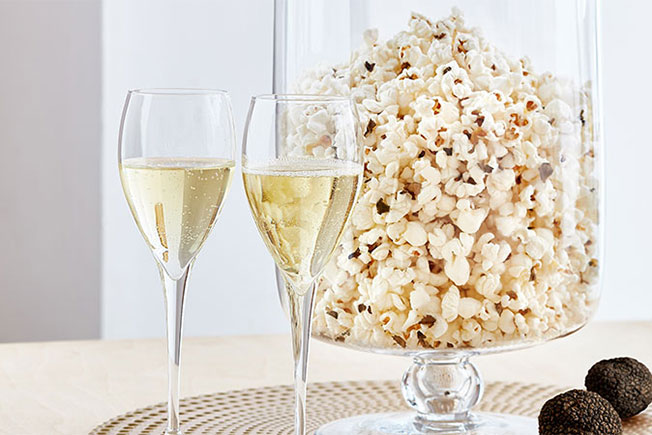 Mixing truffles with your popcorn is a little like drinking étoile Brut at a baseball game: delightfully original and perfectly delicious.